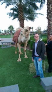 Vermilion Events Creative Director, David Twigger and Pistol the Camel