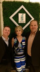 Host Terri O , Vermilion Events David Twigger and AMA Chapter President John Hogg
