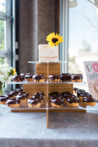 Donuts for wedding brunch dessert